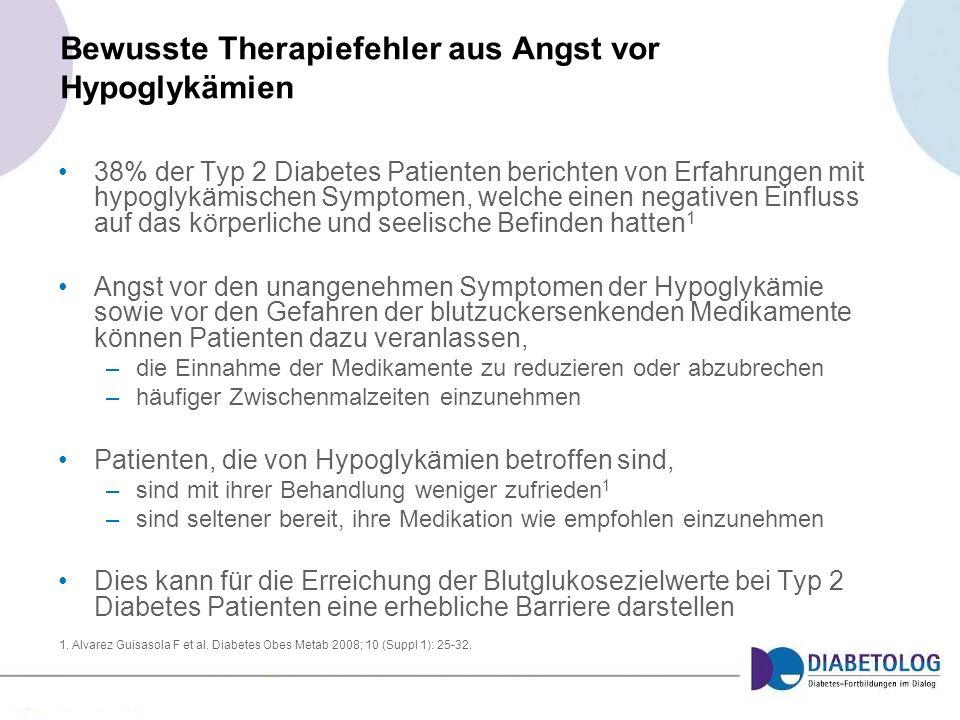 Bewusste Therapiefehler aus Angst vor Hypoglykämien