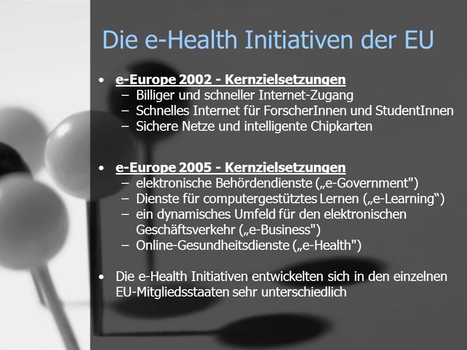 Die e-Health Initiativen der EU