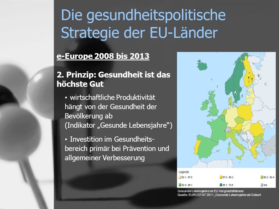 Die gesundheitspolitische Strategie der EU-Länder