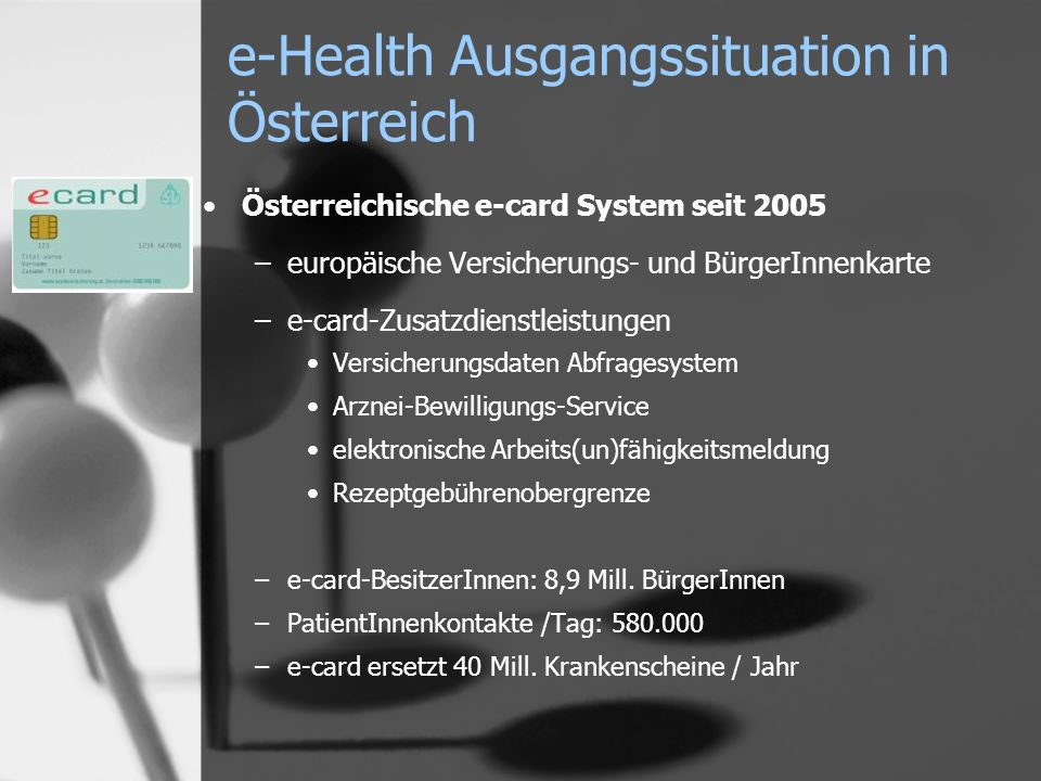 e-Health Ausgangssituation in Österreich