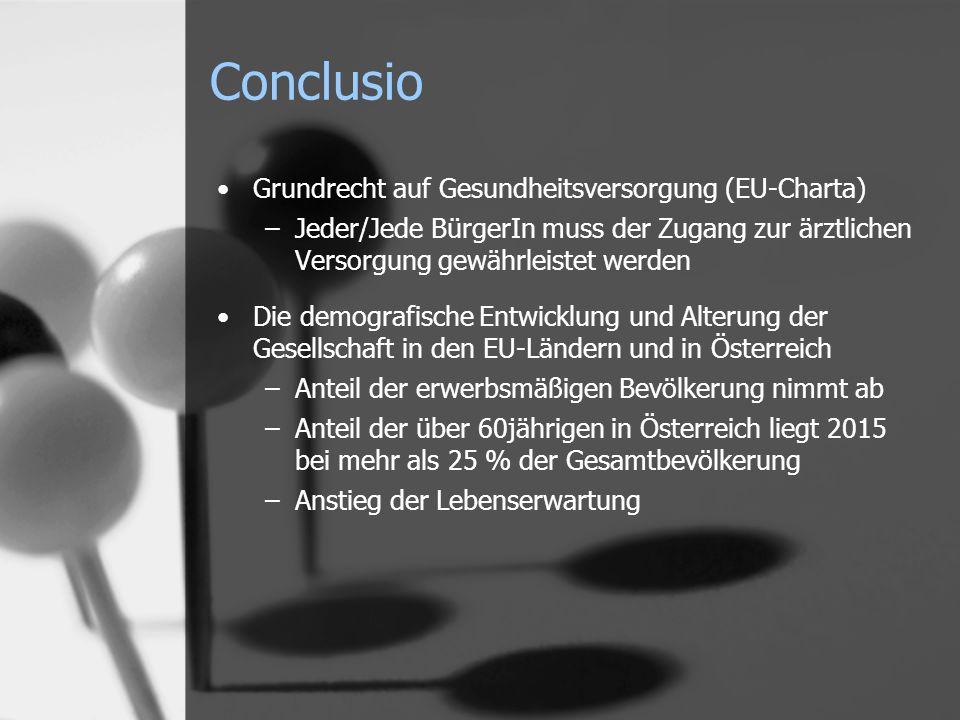 Conclusio Grundrecht auf Gesundheitsversorgung (EU-Charta)