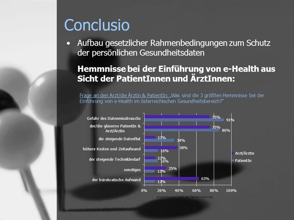 Conclusio Aufbau gesetzlicher Rahmenbedingungen zum Schutz der persönlichen Gesundheitsdaten.