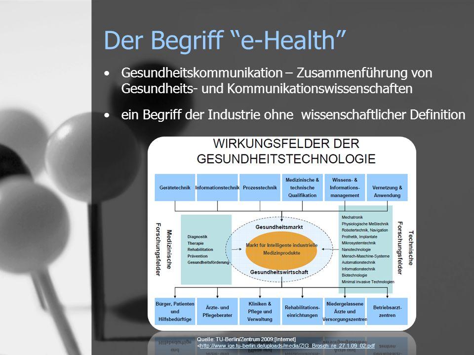 Der Begriff e-Health