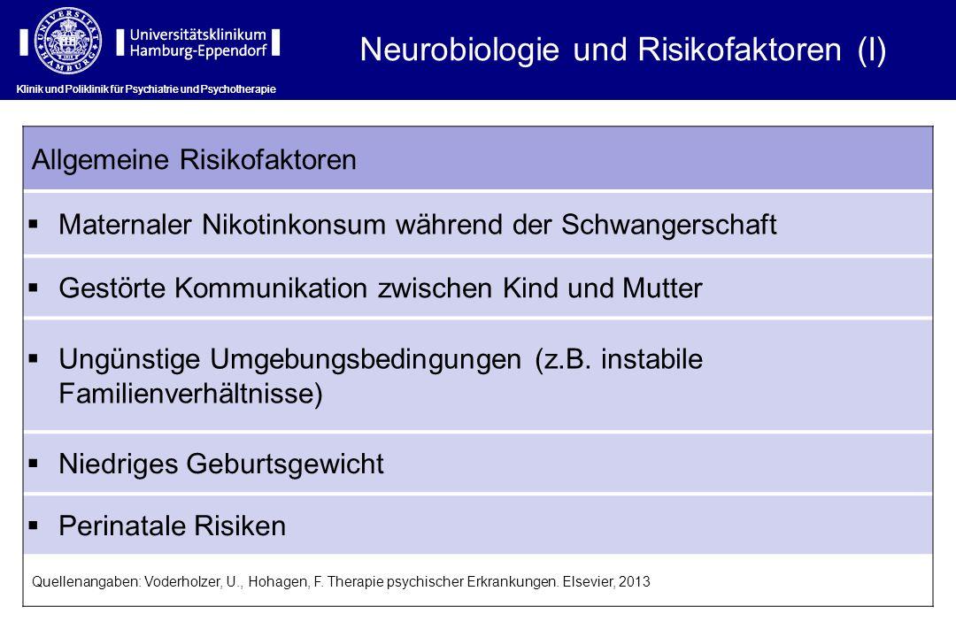 Neurobiologie und Risikofaktoren (I)