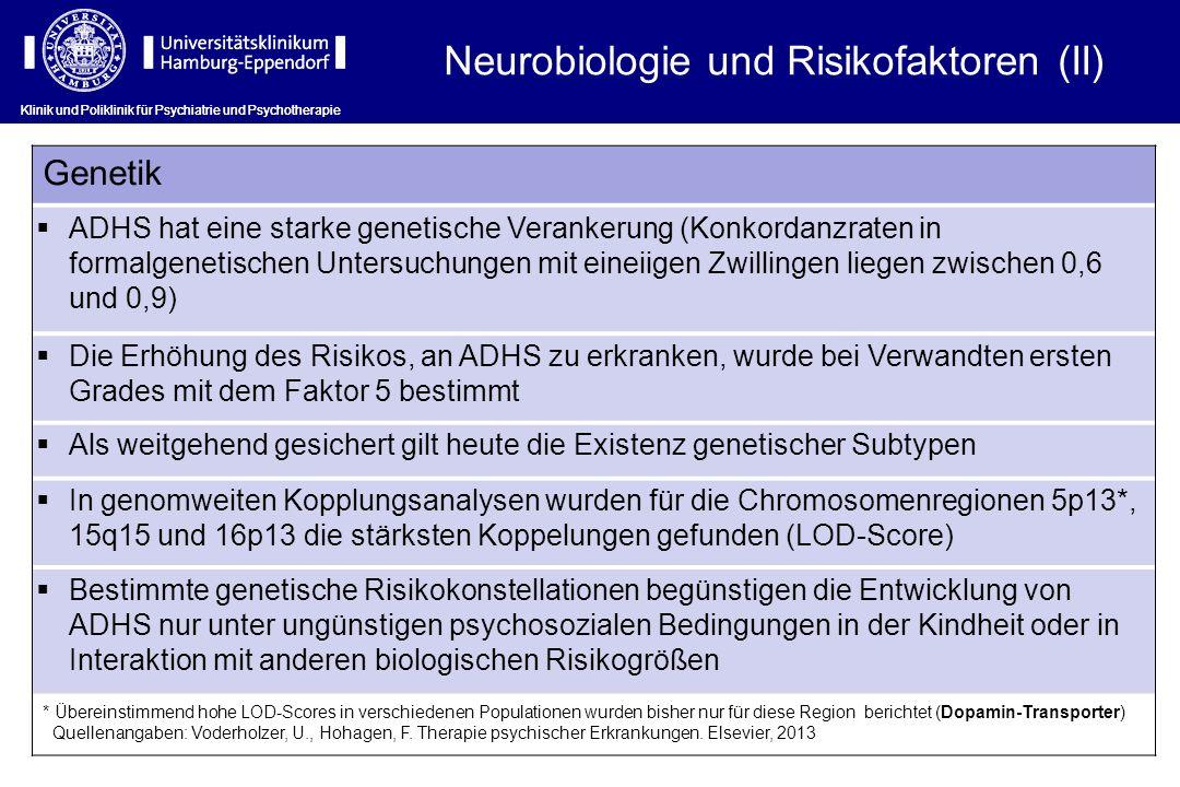 Neurobiologie und Risikofaktoren (II)