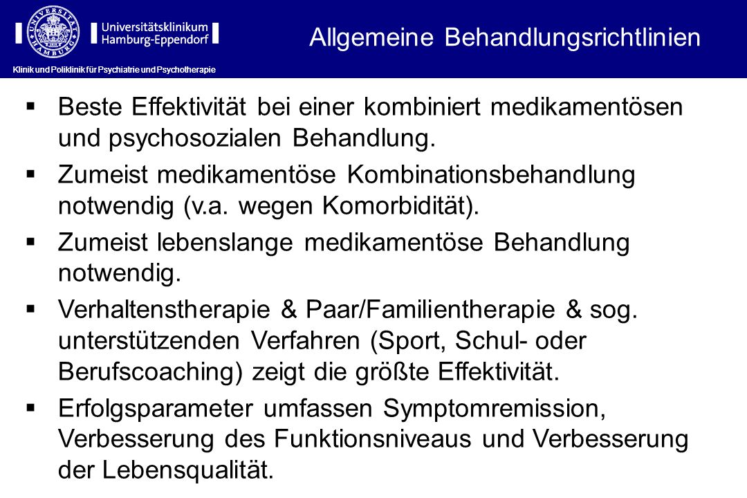 Allgemeine Behandlungsrichtlinien