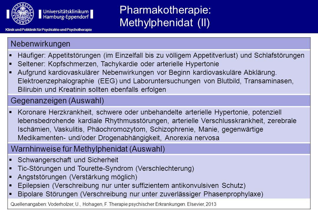 Pharmakotherapie: Methylphenidat (II) Nebenwirkungen