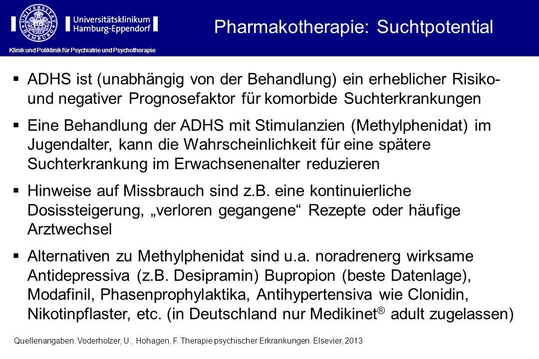 Pharmakotherapie: Suchtpotential