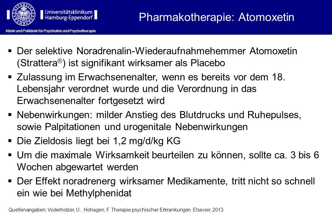 Pharmakotherapie: Atomoxetin