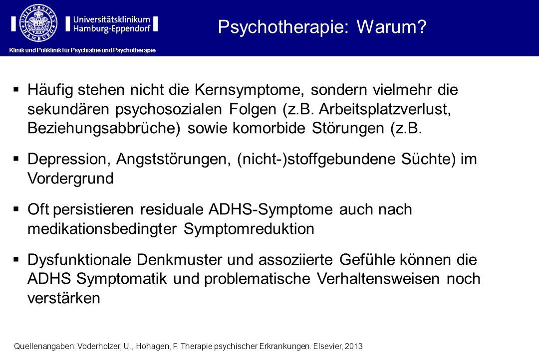 Psychotherapie: Warum