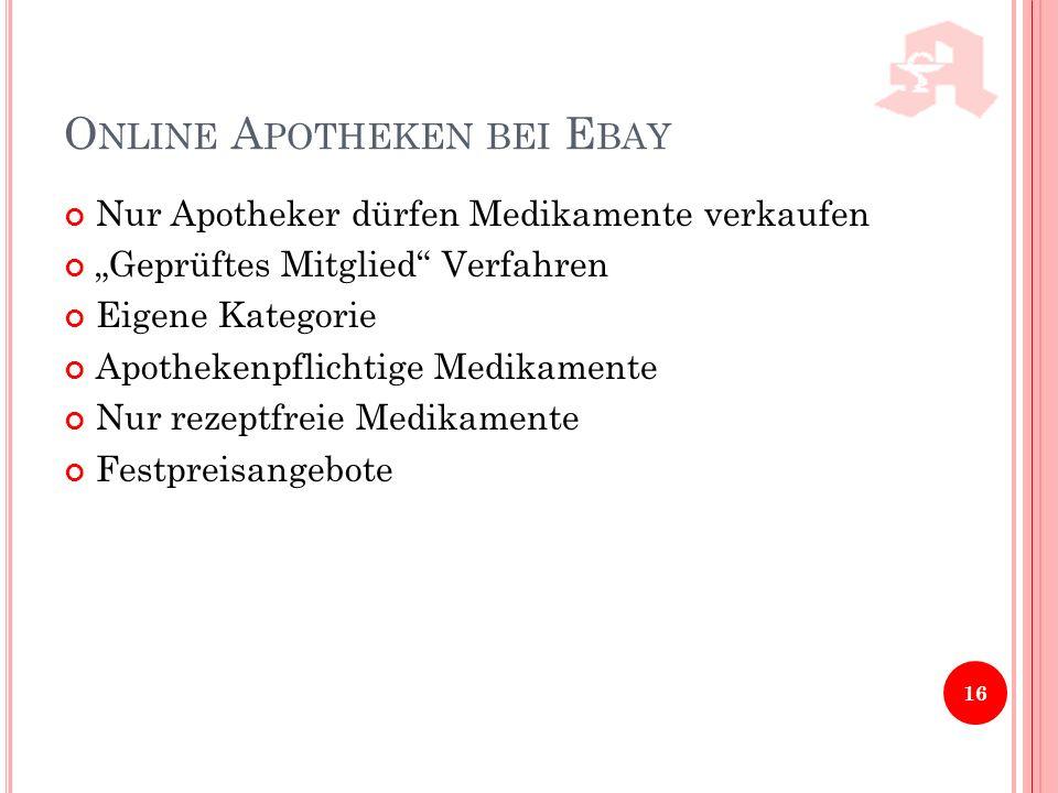 Online Apotheken bei Ebay