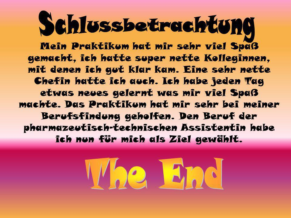 Schlussbetrachtung The End