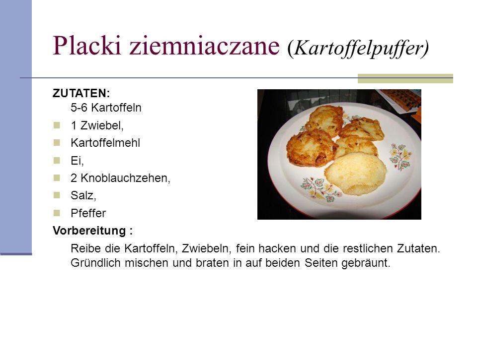 Placki ziemniaczane (Kartoffelpuffer)
