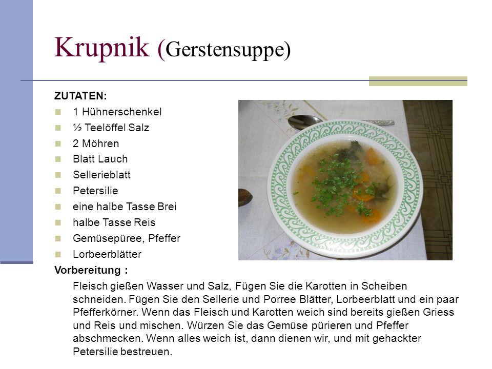 Krupnik (Gerstensuppe)