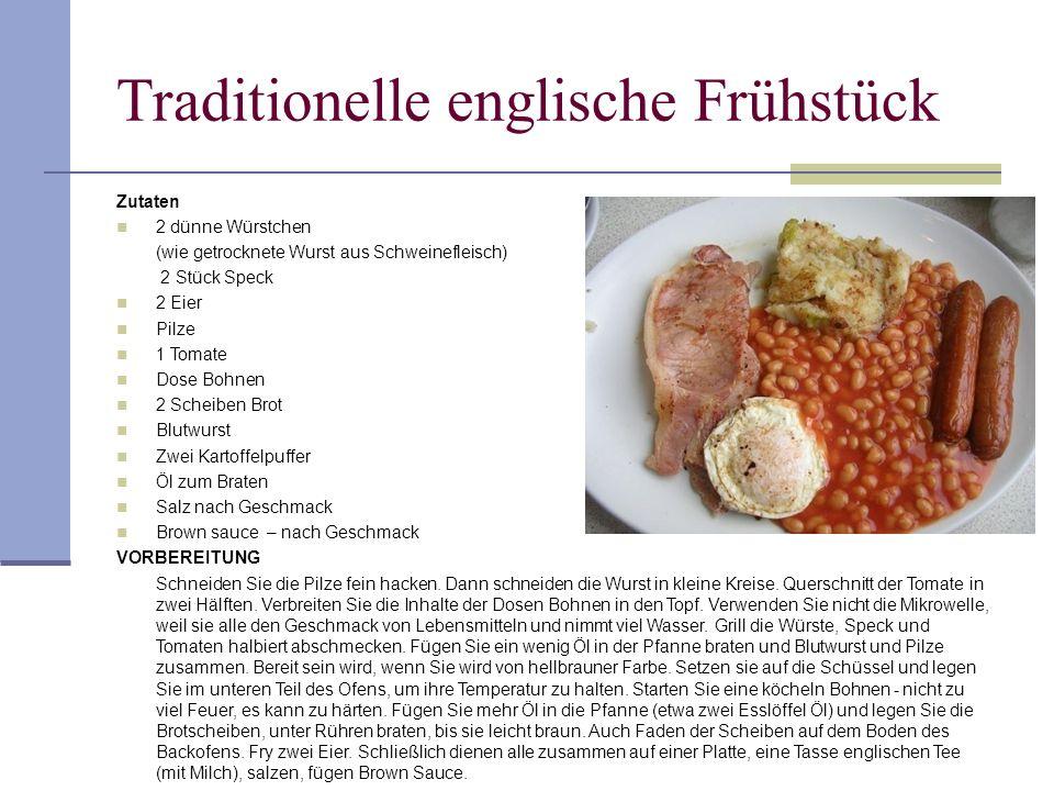 Traditionelle englische Frühstück