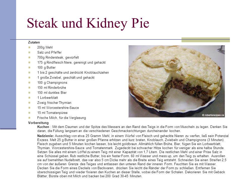 Steak und Kidney Pie 28 Zutaten 200g Mehl Salz und Pfeffer