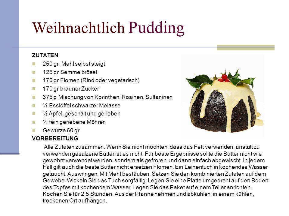 Weihnachtlich Pudding