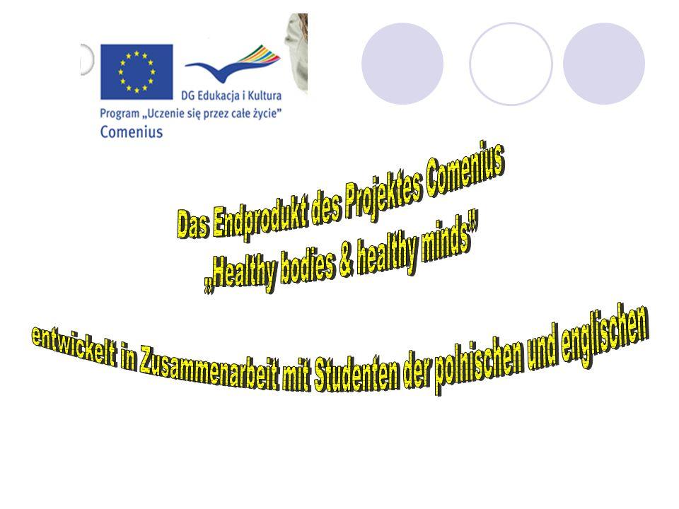 """Das Endprodukt des Projektes Comenius """"Healthy bodies & healthy minds"""