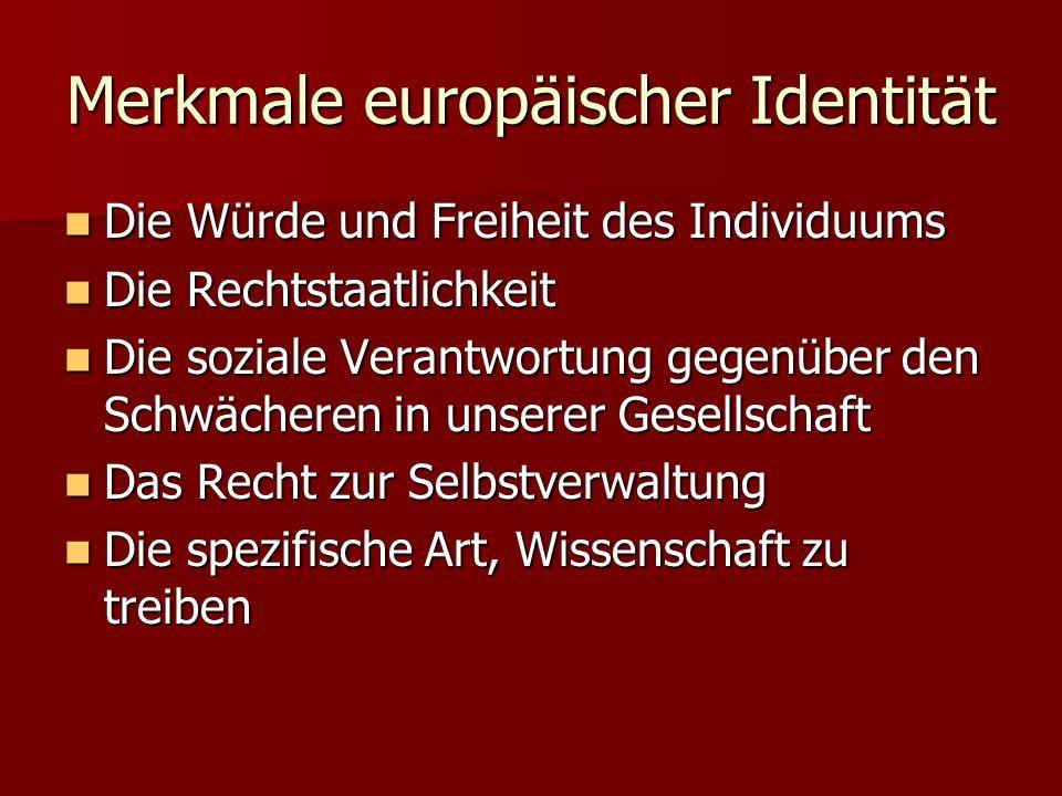 Merkmale europäischer Identität