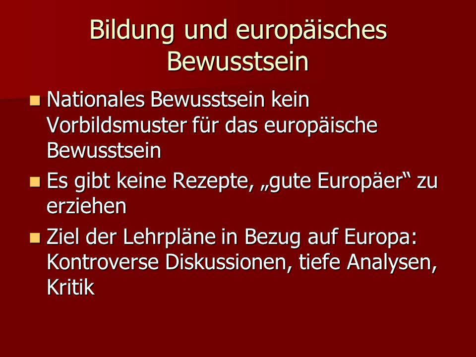 Bildung und europäisches Bewusstsein