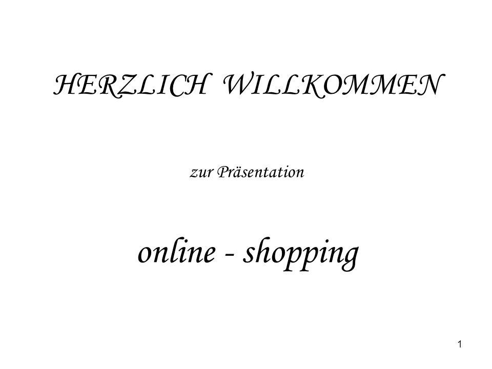 zur Präsentation online - shopping