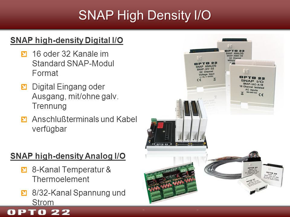 SNAP High Density I/O SNAP high-density Digital I/O