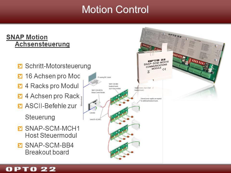 Motion Control SNAP Motion Achsensteuerung Schritt-Motorsteuerung