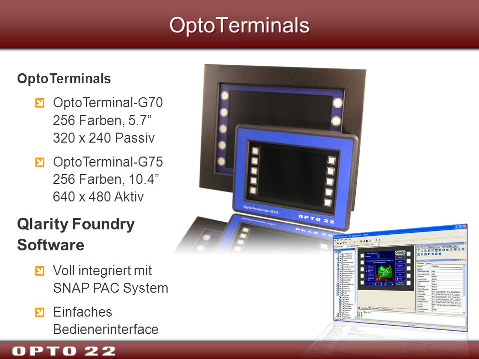 OptoTerminals Qlarity Foundry Software OptoTerminals