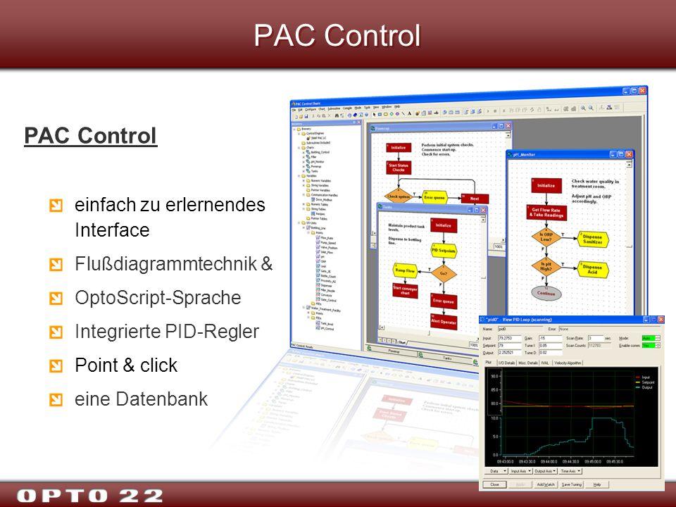 PAC Control PAC Control einfach zu erlernendes Interface