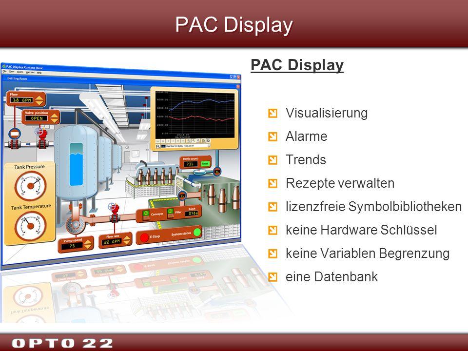PAC Display PAC Display Visualisierung Alarme Trends Rezepte verwalten