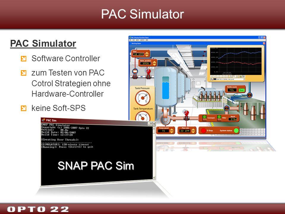 PAC Simulator SNAP PAC Sim PAC Simulator Software Controller