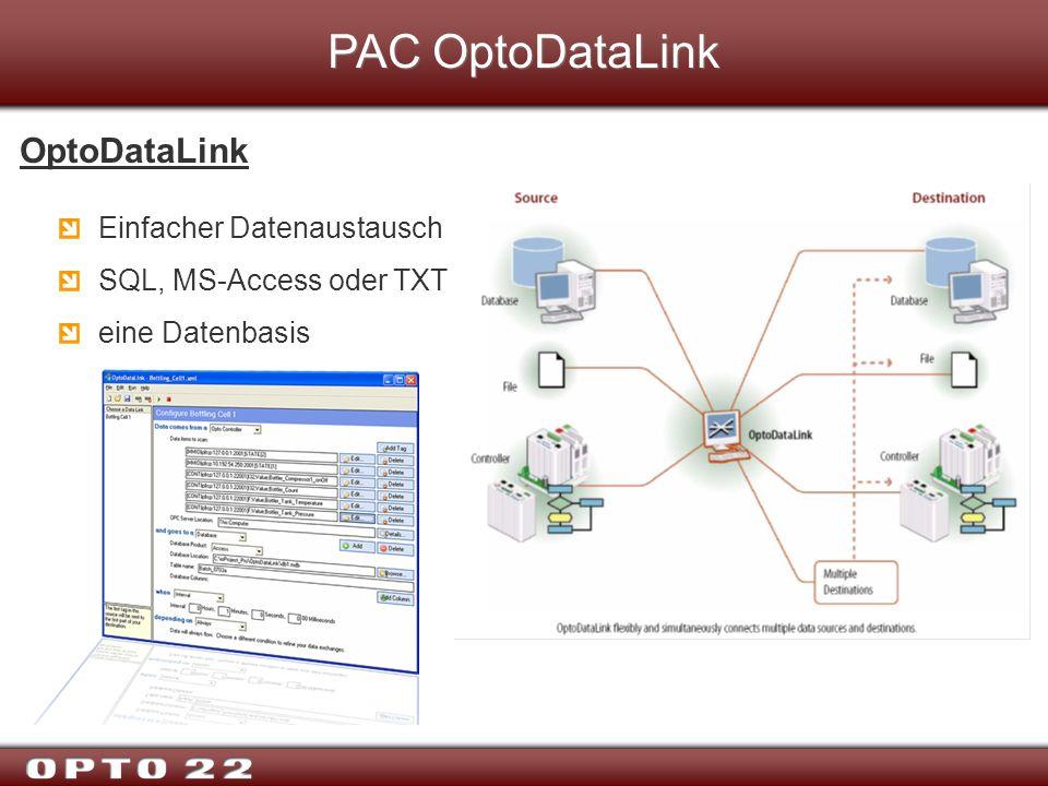PAC OptoDataLink OptoDataLink Einfacher Datenaustausch