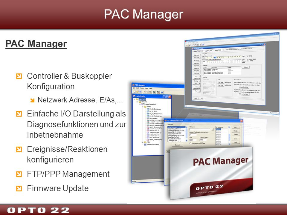 PAC Manager PAC Manager Controller & Buskoppler Konfiguration
