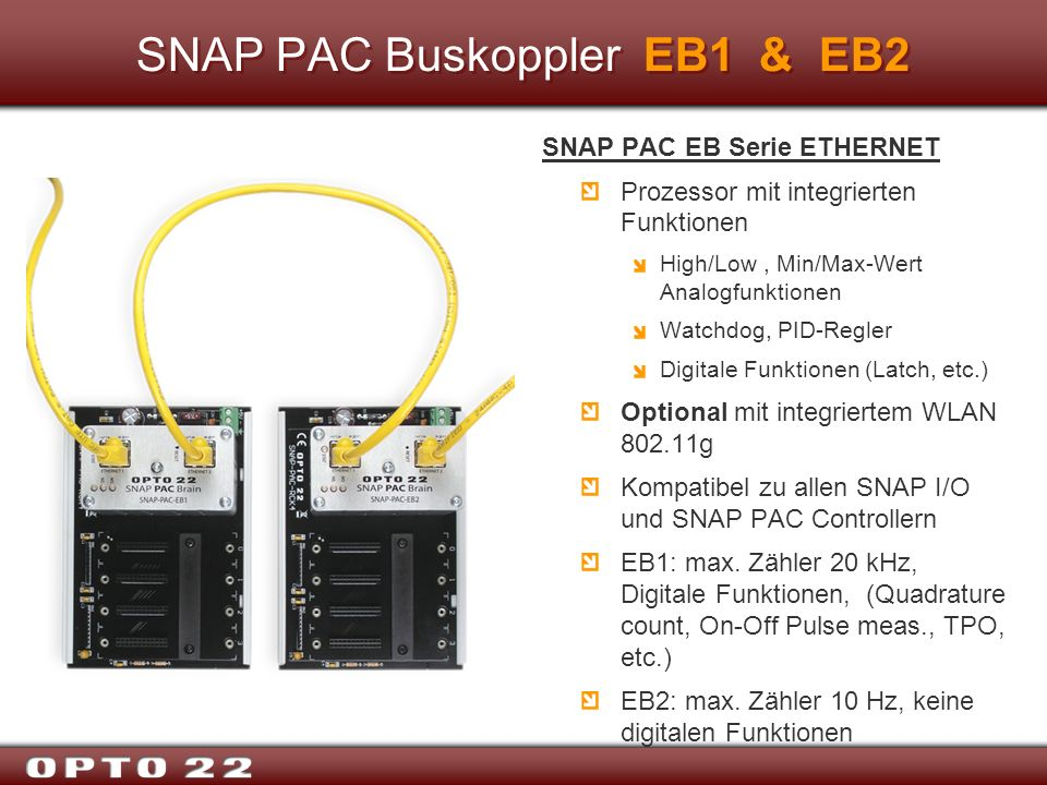 SNAP PAC Buskoppler EB1 & EB2