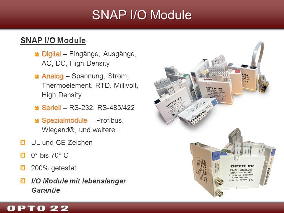 SNAP I/O Module SNAP I/O Module