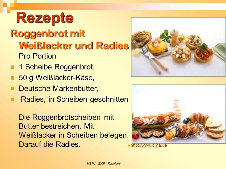 Rezepte Roggenbrot mit Weißlacker und Radies Pro Portion