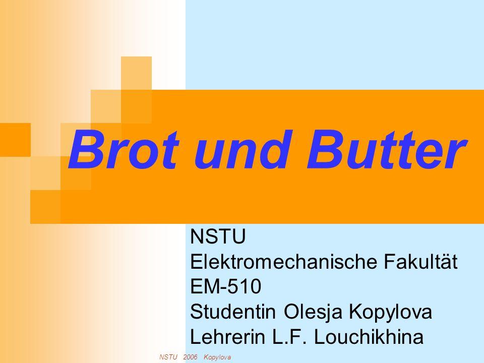 Brot und Butter NSTU Elektromechanische Fakultät EM-510