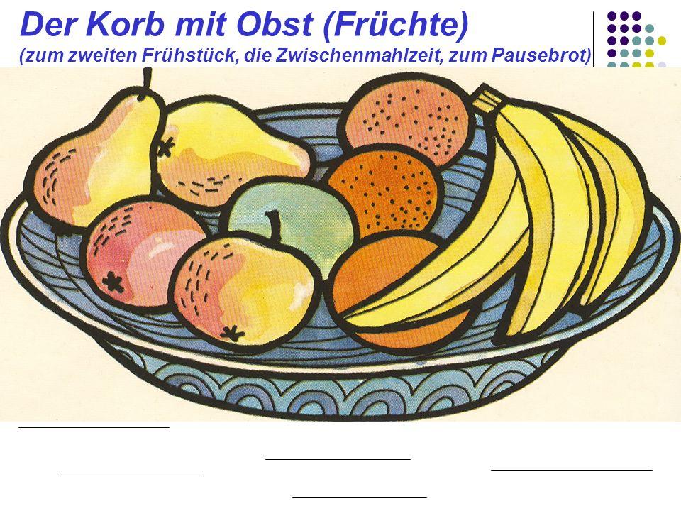 Der Korb mit Obst (Früchte)
