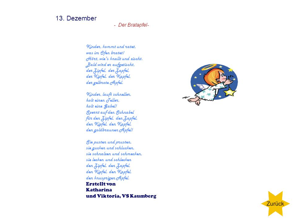 13. Dezember - Der Bratapfel-