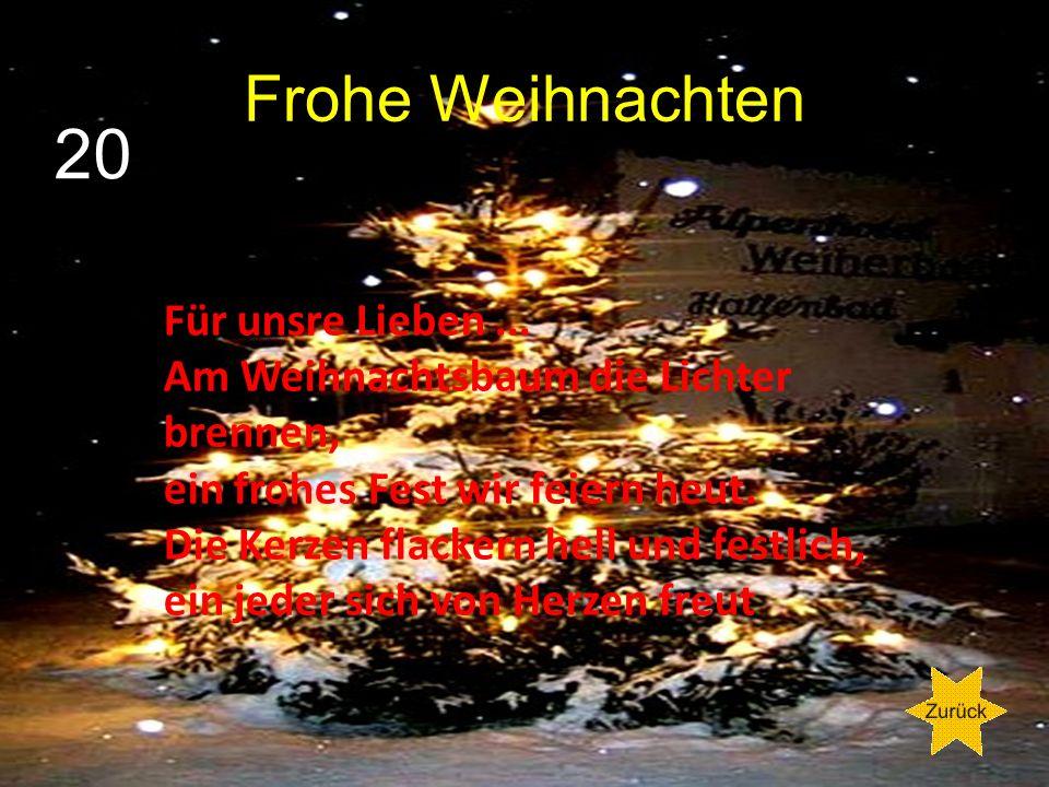20 Frohe Weihnachten Für unsre Lieben ...