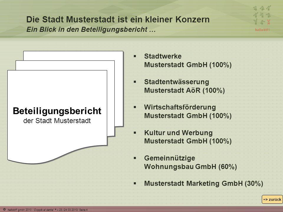 Beteiligungsbericht der Stadt Musterstadt