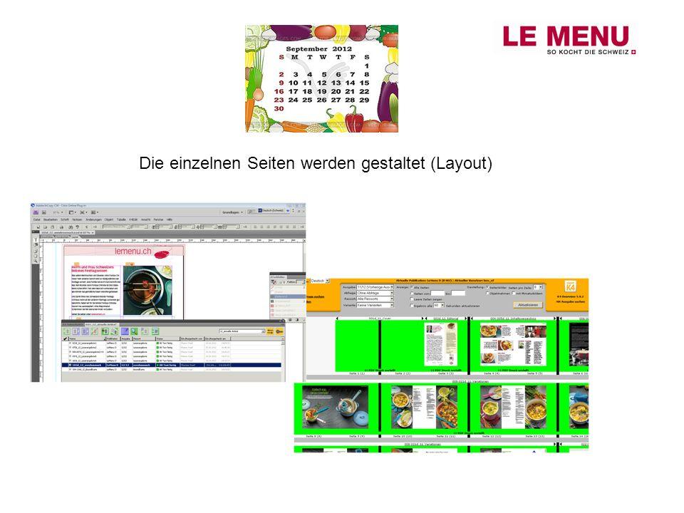 Die einzelnen Seiten werden gestaltet (Layout)