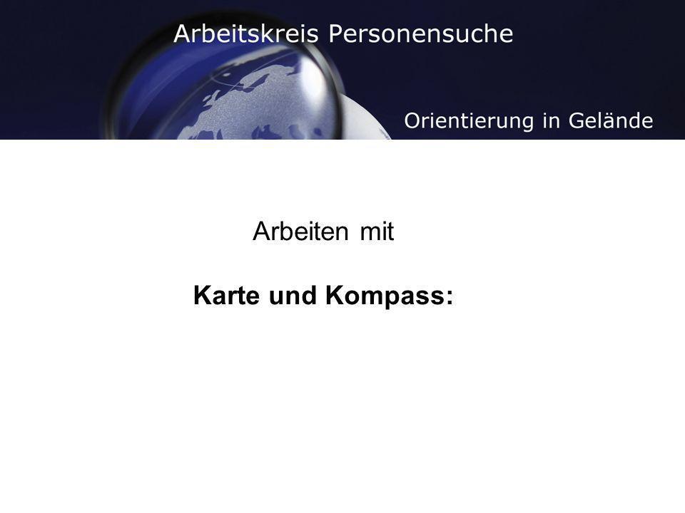 Arbeiten mit Karte und Kompass: