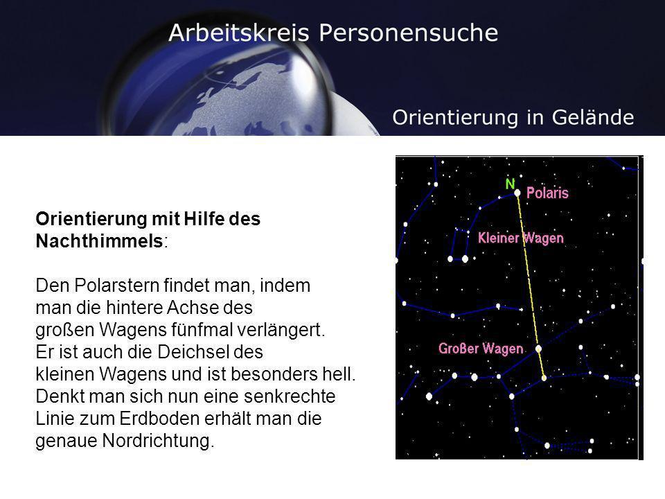 Orientierung mit Hilfe des Nachthimmels:
