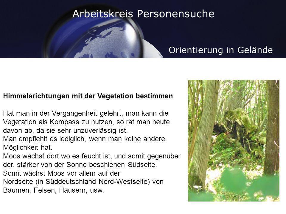 Himmelsrichtungen mit der Vegetation bestimmen