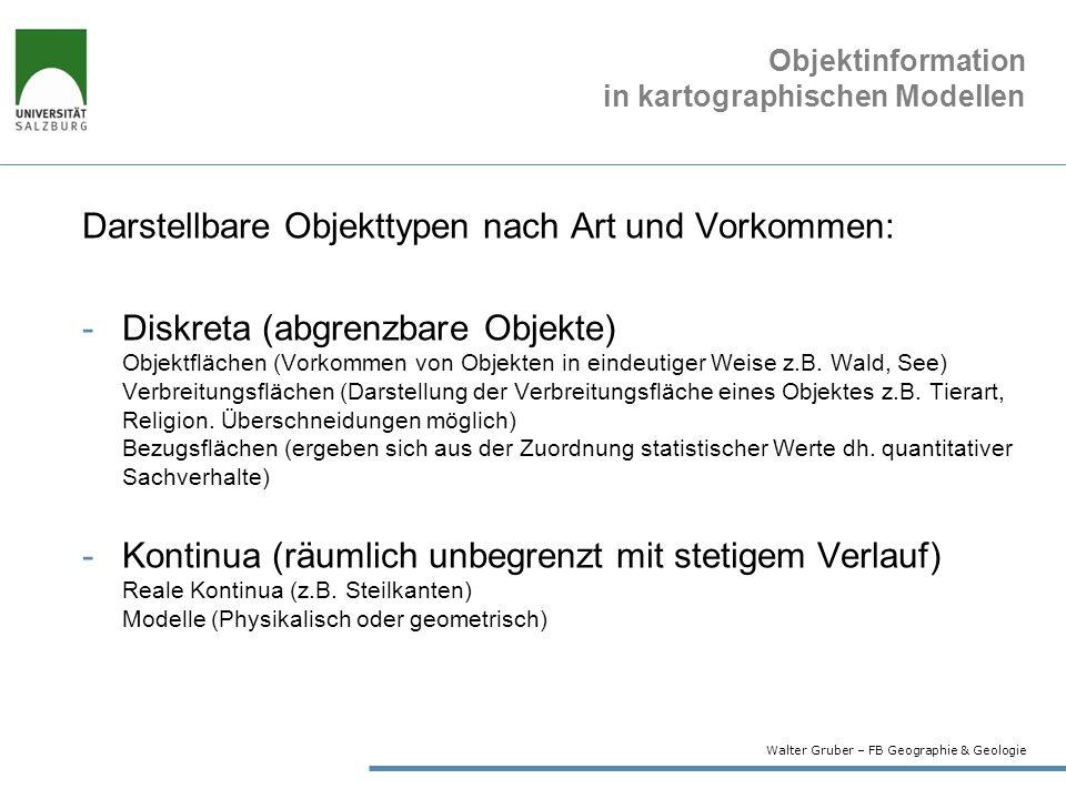 Objektinformation in kartographischen Modellen