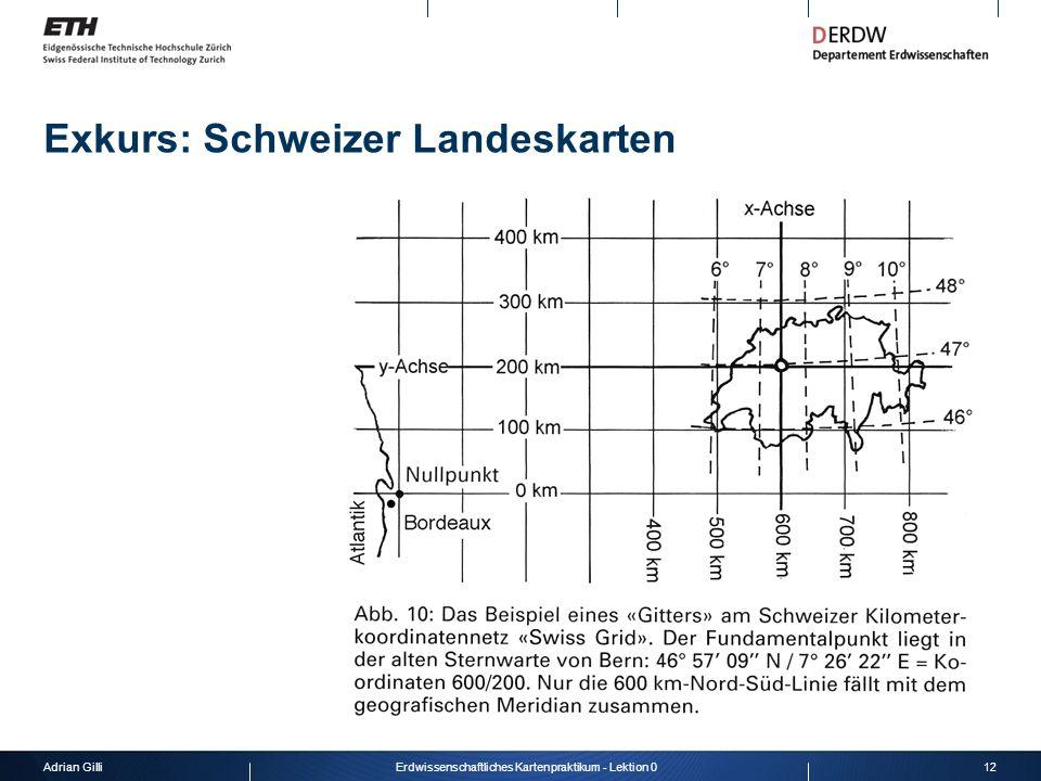 Exkurs: Schweizer Landeskarten