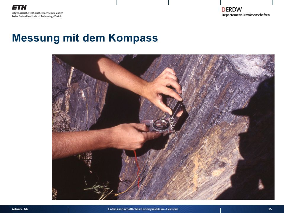 Messung mit dem Kompass