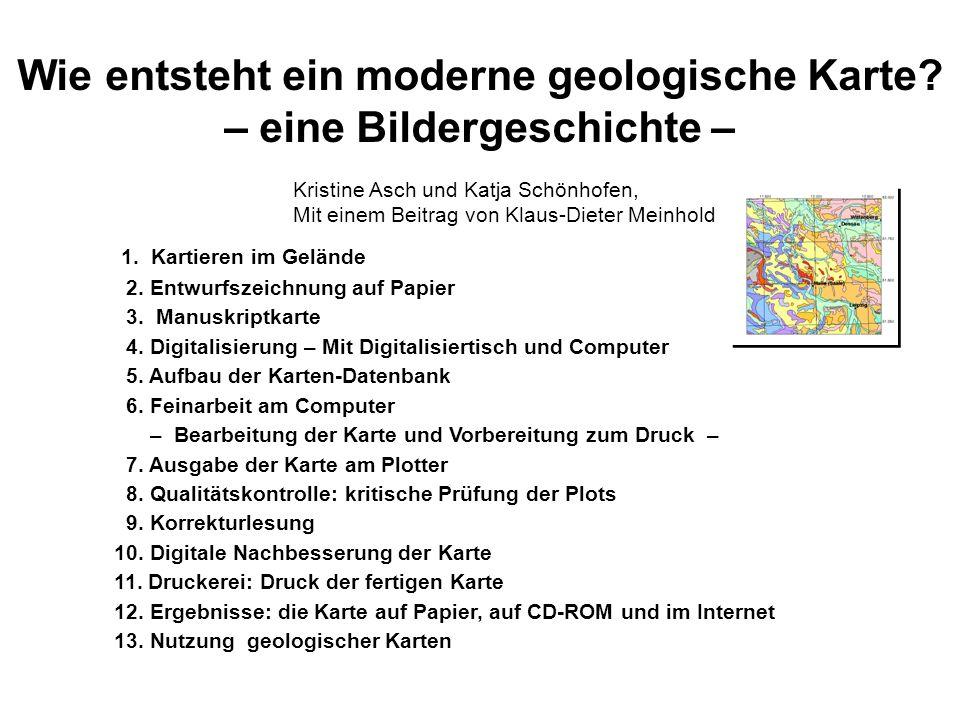 Wie entsteht ein moderne geologische Karte – eine Bildergeschichte –