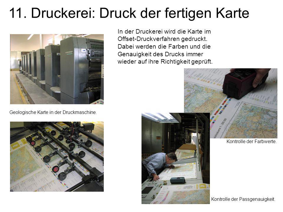 11. Druckerei: Druck der fertigen Karte